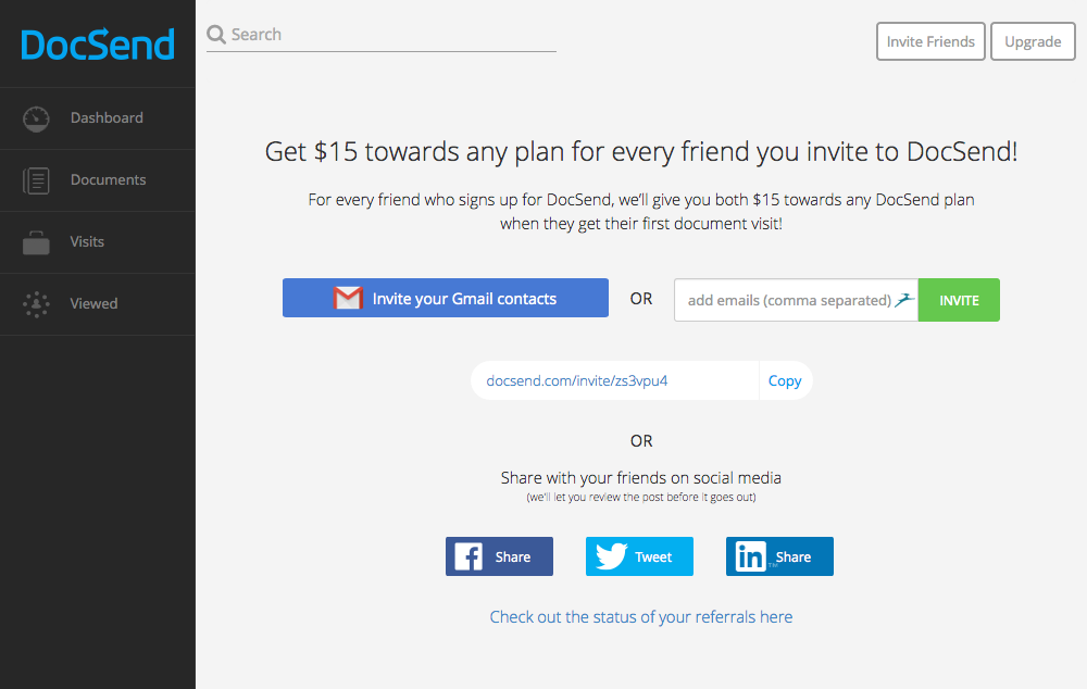 Introducing the DocSend Referral Program The Dispatch