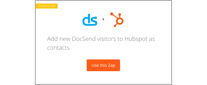 Add new DocSend visitors to HubSpot as contacts