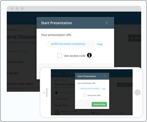 Present content from your phone, laptop or other device with Live Present for DocSend